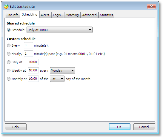 Highly configurable scheduling